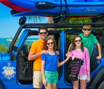 Family renting a car in Key West