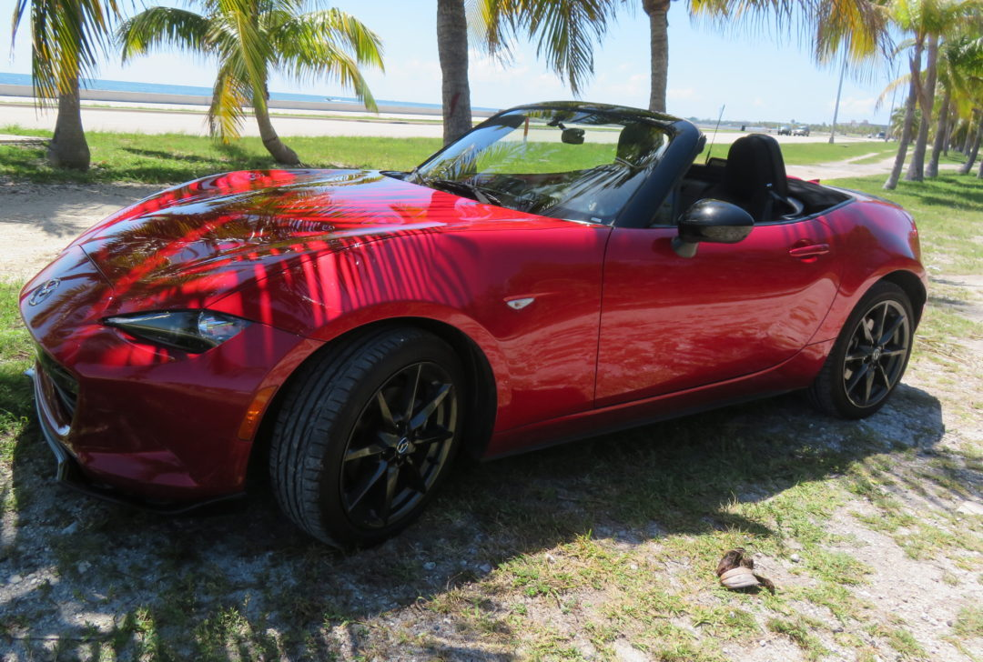Red Convertible Miata