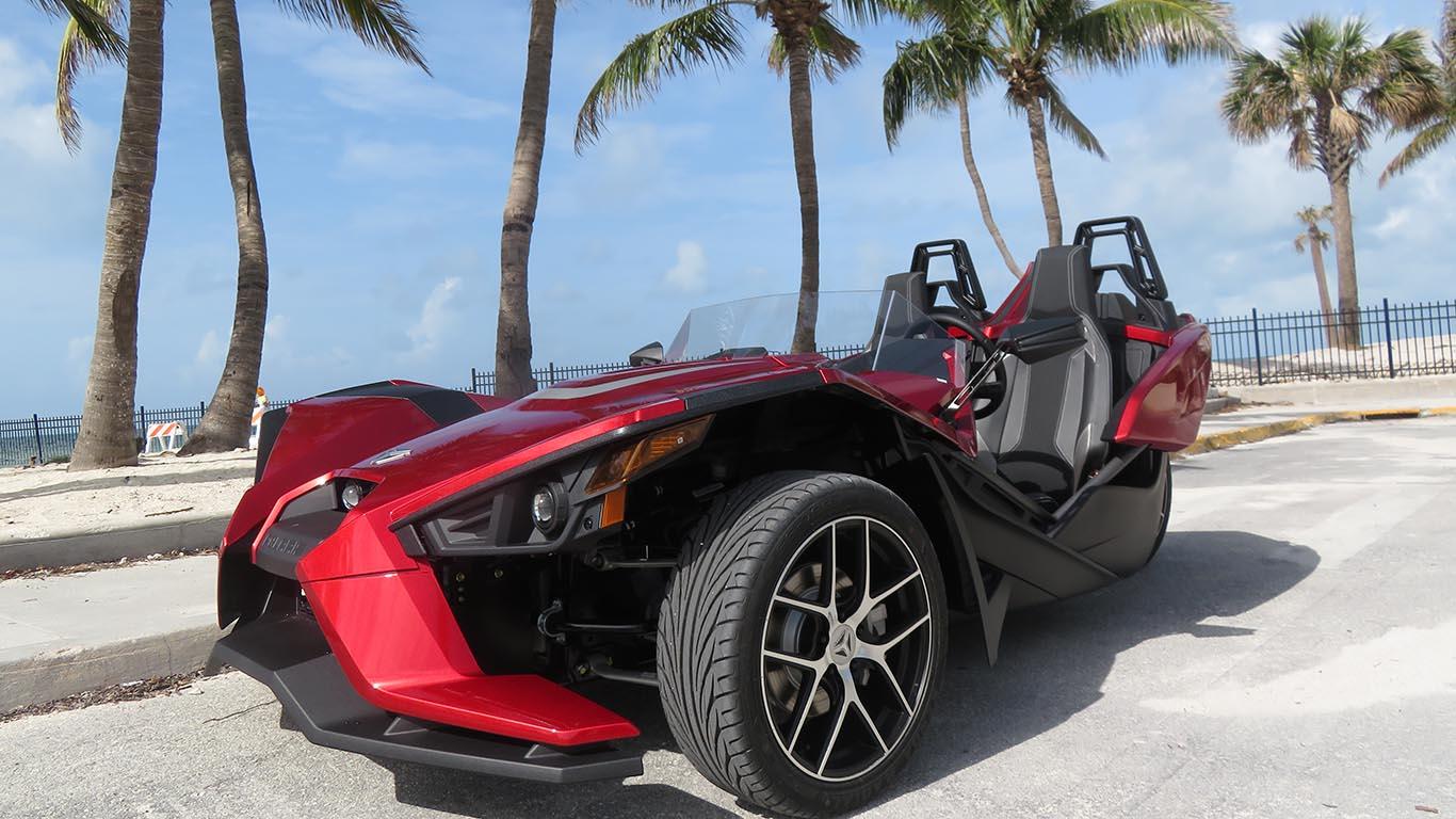 As cool as can be. Polaris Slingshot Rental Key West
